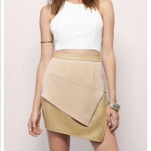 NWOT All angles brown/toast skirt.